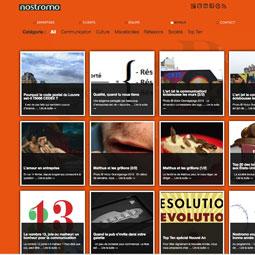 Le nouveau site de l'agence de communication Nostromo est en ligne !
