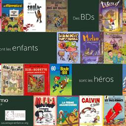 Nostromo agence de communication vous propose un fond d'ecran sur les enfants heros de bande dessinee