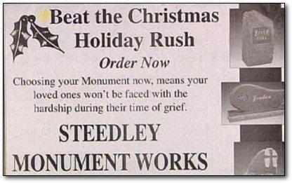 Nostromo, agence de communication, vous propose un top ten des pires publicités de Noel