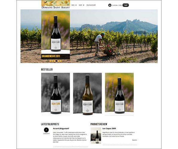 Le site marchand du Domaine Saint Amant a ete concu et realise par Nostromo, agence de communication