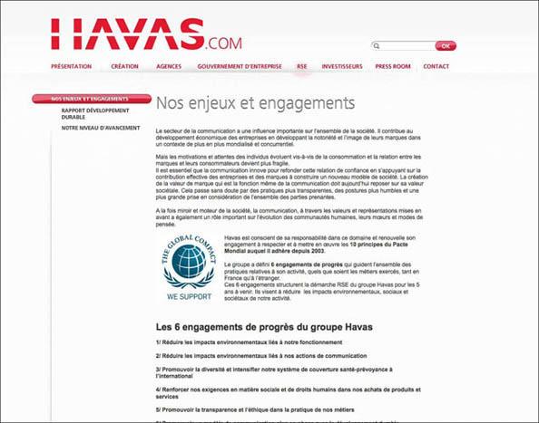 Havas a fait confiance à l'agence de communication Nostromo pour la Rédaction du site web corporate, pour le compte de W&Cie