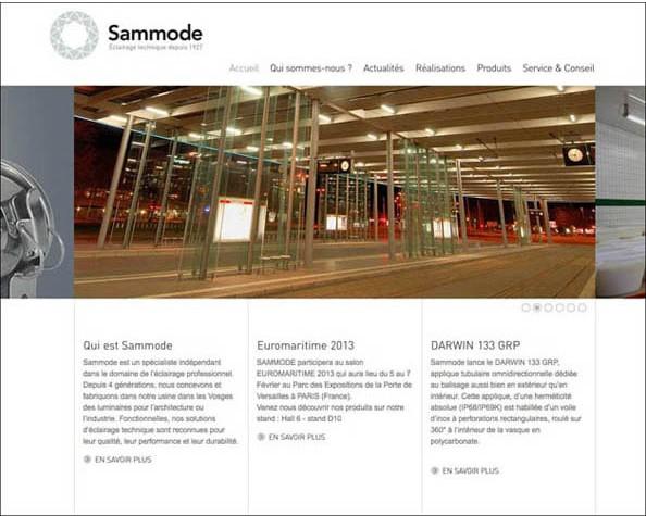Nostromo agence de communication a rédigé le site web du groupe Sammode