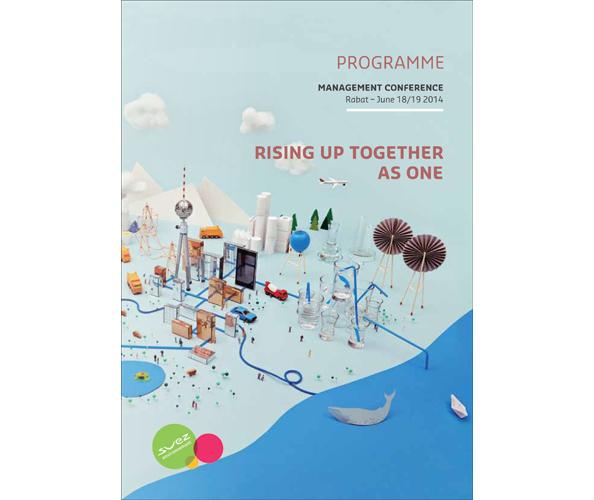 L'élaboration de la totalité des documents de la management conference de Suez Environnement a ete confiee a l'agence de communication Nostromo