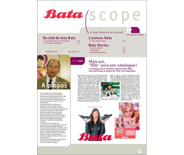 L'agence de communication Nostromo a participe a la redaction du journal interne de Bata, pour le compte d'ORC