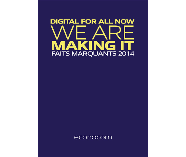 Nostromo, agence de communication, redige le rapport d'activité d'econocom