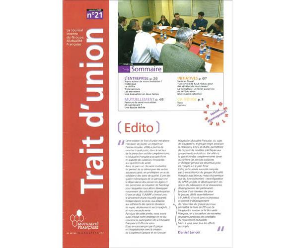 L'agence de communication Nostromo a participe a la redaction du journal interne de la Federation de la Mutualite Francaise pour le compte d'ORC