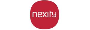 le logo de nexity, un des clients de Nostromo l'agence de communication
