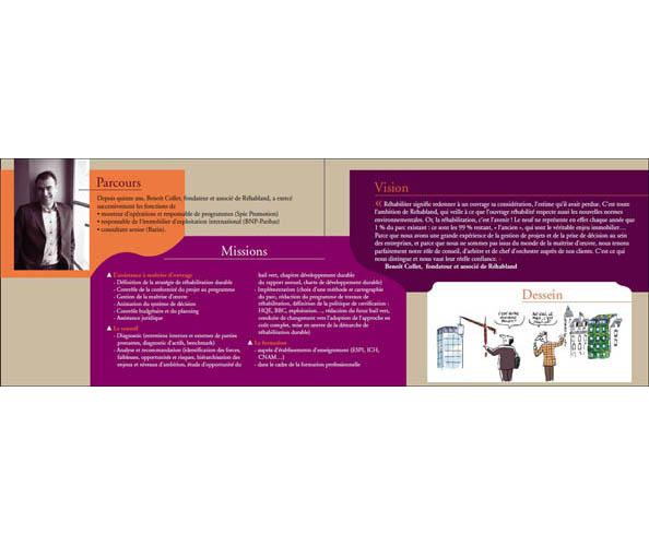 la charte graphique de Réhabland a été réalisée par Nostromo agence de communication