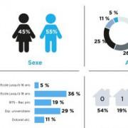 Nostromo, agence de communication, vous présente une infographie décrivant les utilisateurs de Twitter en France