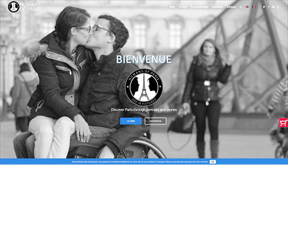 L'agence de communication Nostromo a realise le site internet dedie humans of paris