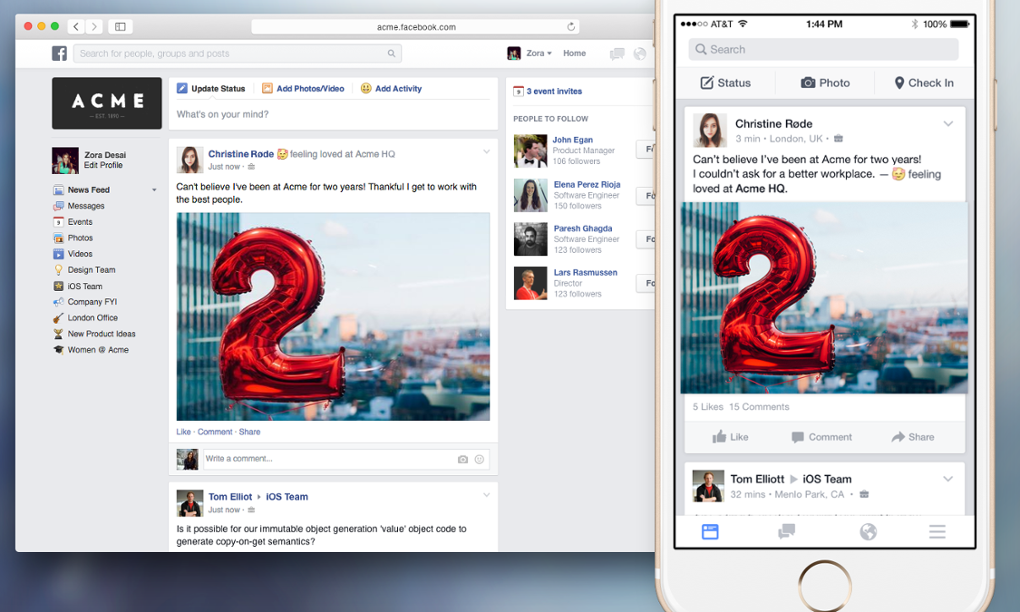 Facebook at work s'ouvre a la collaboration interentrerprises, explique l'agence de communication Nostromo